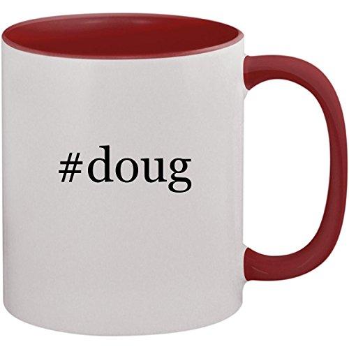 #doug - 11oz Ceramic Colored Inside and Handle Coffee Mug Cup, -