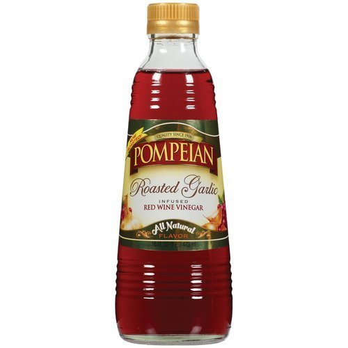 Pompeian Vinegar 16oz Bottle (Pack of 3) Select Flavor Below (Roasted Garlic Infused Red Wine) (Best American Red Wine)