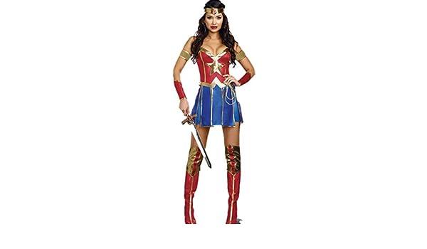 Huoduoduo Disfraz de Superwoman Cosplay Uniforme de Halloween ...