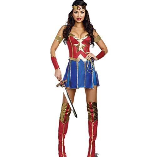 LVLUOYE Halloween Superwoman Cosplay Uniform, Supergirl Stage Wonder Woman Ds Costume,M]()