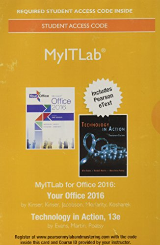 MyLab IT with Pearson eText --  Access Card -- for Your Office 2016 with Technology In Action