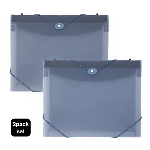 Comix Portable Expanding Hanging File 7 Pocket, Letter Size, Perfect for Office/School/Home/Store/Bank,2 Pack/Set (A1367 Blue)