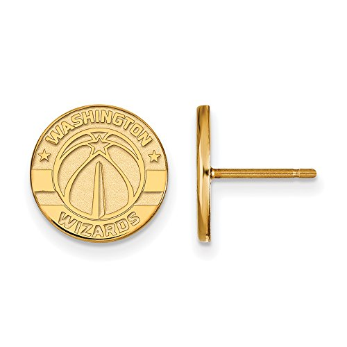 NBA Washington Wizards Post Earrings in 14K Yellow Gold by LogoArt