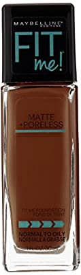Maybelline New York Fit Me Matte Plus Pore Less Foundation, Java, 1 Fluid Ounce