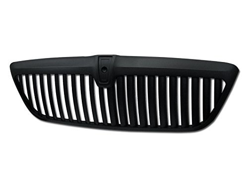 BLACK VERTICAL FRONT HOOD BUMPER GRILL GRILLE COVER ABS 98-02 LINCOLN NAVIGATOR (Lincoln Navigator Bumper Cover)