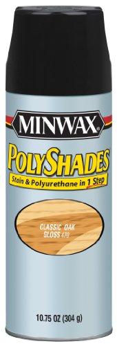 Minwax 3147000000 Polyshades - Stain Polyurethane in 1 Step 1075 ounce Spray Classic Oak Gloss