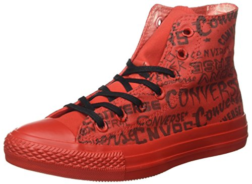 Converse All Star Hi Canvas Ltd, Sneaker Unisex - Adulto, Rosso, EU 39