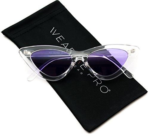 WearMe Pro - Retro Vintage Tinted Lens Cat Eye - Sunglasses Purple Cat Eye