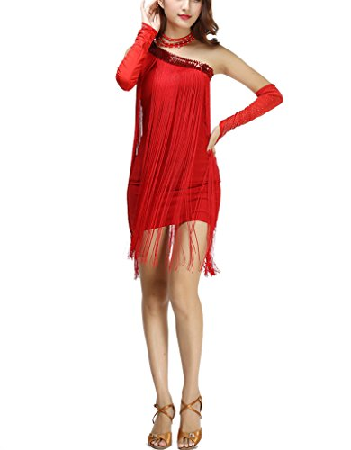 Whitewed Vintage - Inspired Flappers Style Dresses of the 1920s for Women Red, Red, One Size -