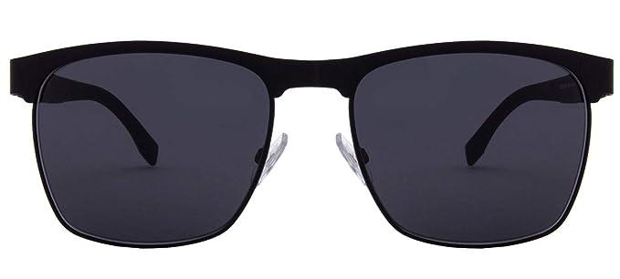 8ff41a17c4eb BOSS by Hugo Boss Men s Boss 0984 s Square Sunglasses Matte Black 57 mm
