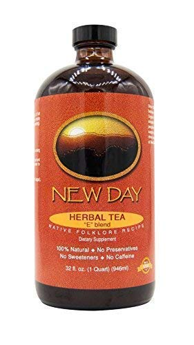 New Day Health Essiac Tea, 32 Ounce Extract | Immune System, Liver & Lymphatic Support | Based on Original Recipe and Crafted in the USA of Burdock Root, Slippery Elm, Sheep Sorrel and Turkey Rhubarb -