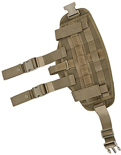 Evike - Avengers MOLLE Drop Leg Panel w/Built-in Holster - Coyote Brown