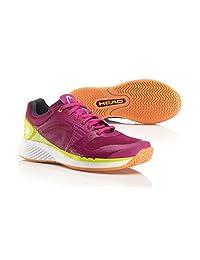 Head Sprint Pro Indoor Women's Court Shoes Berry/Yellow (7)
