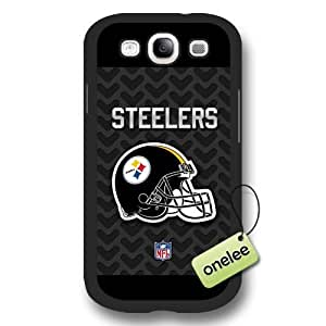 Personalize NFL Pittsburgh Steelers Logo Frosted BlackDiy For SamSung Galaxy S3 Case Cover Black