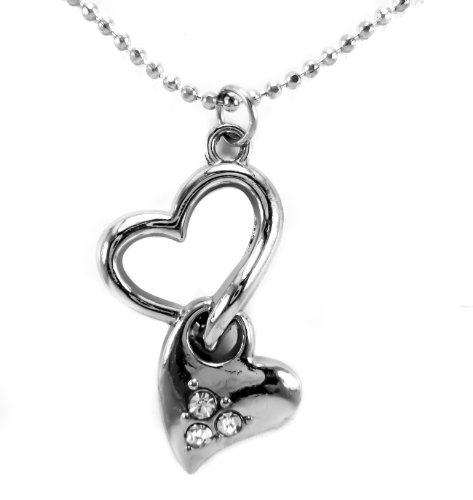 Baby Bass Fish Costume (heart necklace pendant love chain black my key pendant girlfriend jewelry, 16
