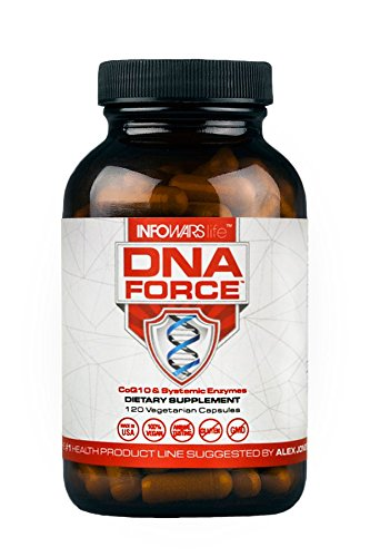 DNA Force Mitochondrial Energy Optimizer with BioBQQ (120 Capsules) – Supports Increased Energy Production and Helps Protect Against Cellular Damage by Infowars Life