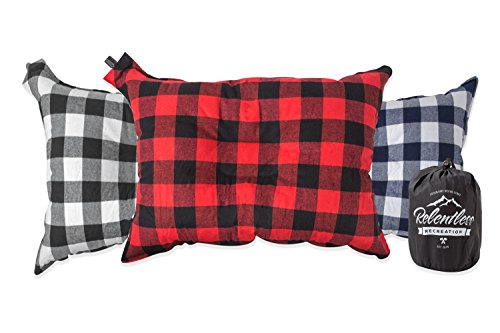 Relentless Recreation Big & Cozy Camp Pillow | Extra Large 20 in. by 14 in. Inflatable Travel/Camping Pillow with Soft…