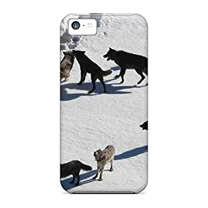 Awesome Yellowstone Wolves Flip Case With Fashion Design For Iphone 5c