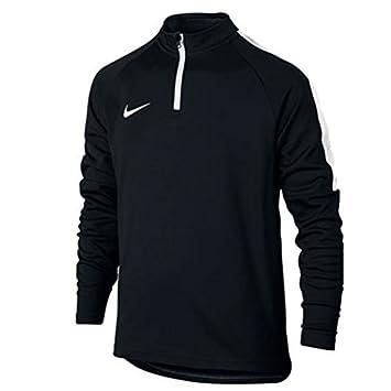 aced4ab981270 Nike Dry Academy Sweatshirt Enfant Noir Blanc Blanc FR   XS (Taille  Fabricant
