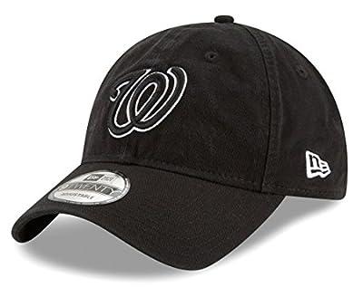 Washington Nationals New Era MLB 9Twenty Core Classic Twill Adjustable Black Hat