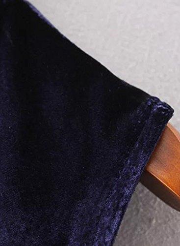 ACHICGIRL - Vestido - relaxed - manga 3/4 - para mujer granate
