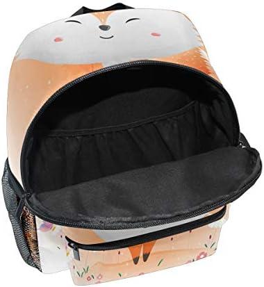 かわいい赤ちゃんキツネの蝶幼児就学前のバックパック本袋ミニショルダーバッグリュックサック通学用1-6年旅行男の子女の子