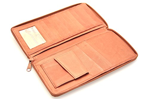 Zippered Paul Passport Slot Travel Brown Wallet British amp;Taylor Large Leather gwBOZq