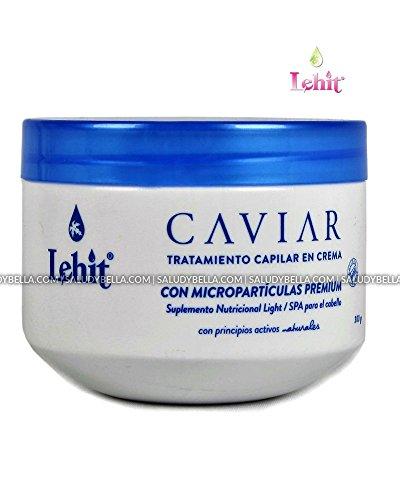 (Lehit Caviar Tratamiento Capilar en Crema Con Microparticulas PREMIUM Suplemento Nutricional Light/Spa para el Cabello | Hair Treatment with Microparticles PREMIUM (10.1oz-300ml))