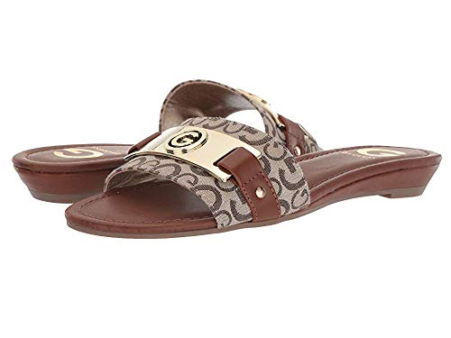 G by GUESS Womens Jeena Taupe/Burnished Calf Rio Maple 11 M
