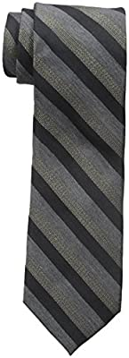 Calvin Klein Men's Gold Glimmer Multi Stripe Tie