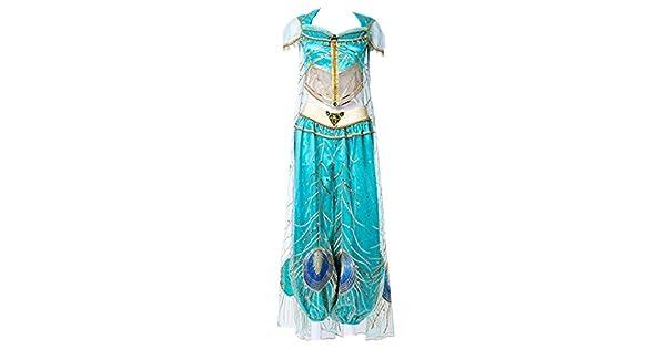Amazon.com: Disfraz de princesa árabe de jazmín para cosplay ...