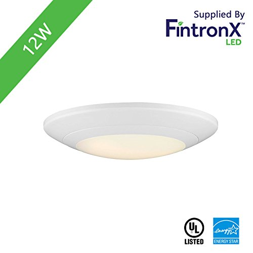 Fintronx 6 inch LED Surface Mount Downlights 125W 2700K 800 Lumens Dimmable