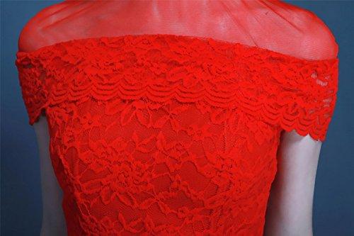 Beauty-Emily -  Vestito  - linea ad a - Donna rosso 44