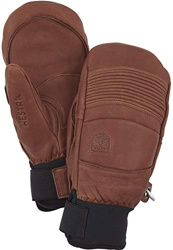 Hestra Leather Fall Line - Short Freeride Snow Mitten with Superior Grip for Skiing and Mountaineering - Brown - 10 from Hestra