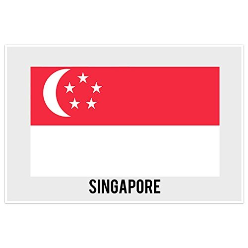 Singapore Country Flag Wall Art - Usps Singapore Shipping