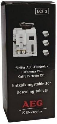 6 x descalcificación Tablette descalcificador AEG ecf3 Cafetera ...