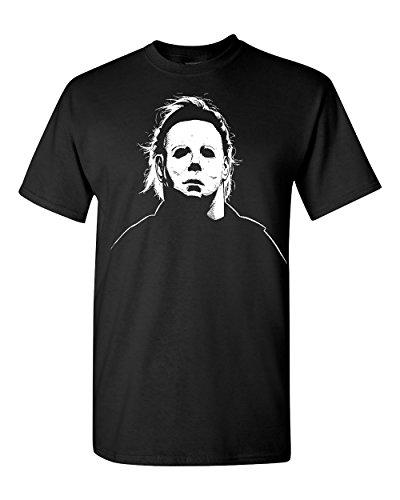 Jacted Up Tees Michael Myers Halloween Movie Mask Men's T-Shirt - XL Black -