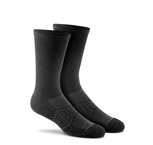 Fox River Mills Athletic Verso Crew Sock - Black, Large - 3 Pack by FoxRiver