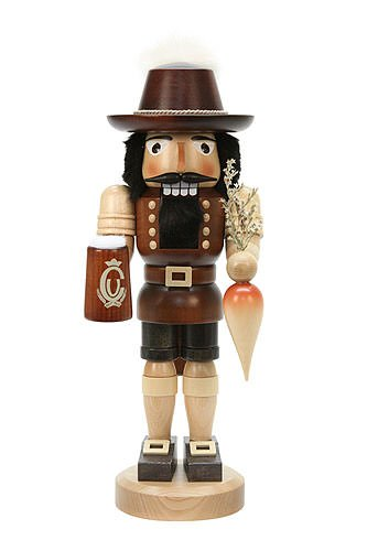 German Christmas Nutcracker Bavarian natural colors - 37,5 cm / 15 inch - Christian Ulbricht by Christian Ulbricht