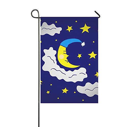 YUMOING Home Decorative Outdoor Double Sided Mysterious Tarot Divination Constellation Garden Flag House Yard Flag Garden Yard Decorations Seasonal Welcome Outdoor Flag 12x18in Spring Summer Gift ()