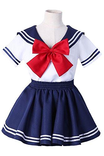 Joyshop Anime Kids Girl's School Uniform Sailor Dress,Large