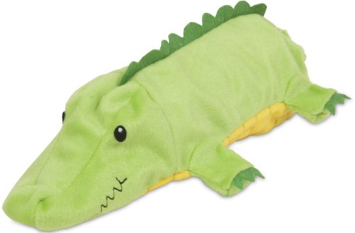 Petmate 54199 Squeakbottles Gator Dog Toy, Green