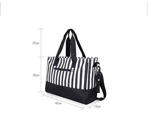 Pañal Bolsa Mochila Multi-función Pañal Cambio Bolso - Grande, Moda, Durable Premium Calidad Elegante Baby Cambio Bag , black Black