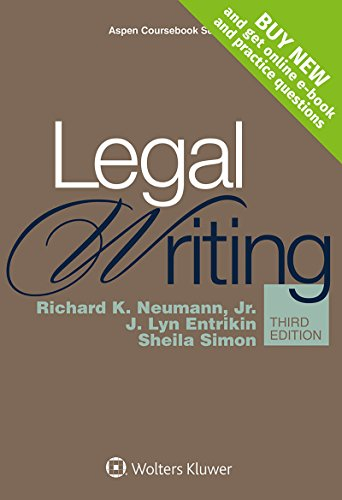 Legal Writing [Connected Casebook] (Aspen Coursebook)