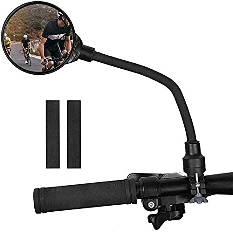 Bike Mirror 360 Rotatable Rear View Mirror Bicycle Convex Mirror Motorcycle Handlebar Rear View Mirrors for Most Road Bicycle DONGKER 2PCS Bicycle Rear View Mirror