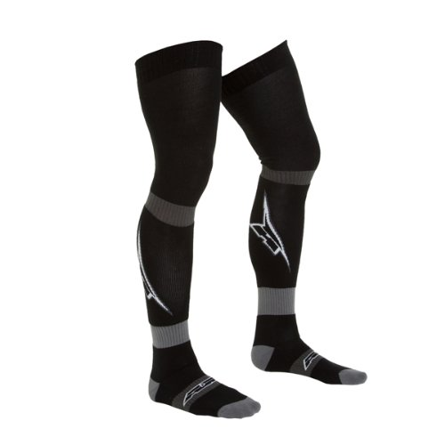AXO MX Long Socks with 'A' Logo, (Black, Large) by Unknown
