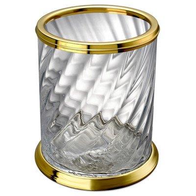 Windisch 89801O-638845337304 Spiral Collection Waste Basket, Gold