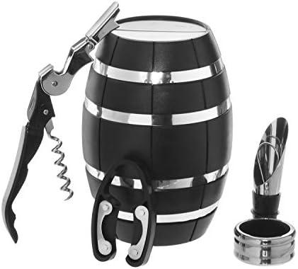 Juego de vino 4 accesorios en estuche de barril: Amazon.es: Hogar