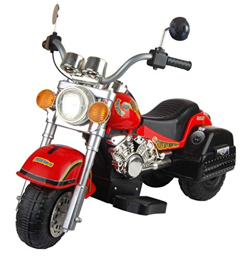 (Merske Harley Style Chopper Style Motorcycle, Red)