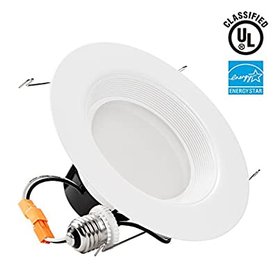 19Watt 5/6-inch High CRI Wet Location Dimmable Retrofit LED Recessed Lighting Fixture, Energy Star UL-classified 120W Equivalent Ceiling Light, 2700K Soft White 1200lm Remodel Recessed Downlight